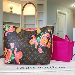 💕LIMITED Edition LV Neverfull Mm Stephen Sprouse